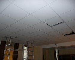 David Raspaud - Blanzat - Rénovation de la salle de réunion de l'AVERPAHM confection d'un plafond suspendu